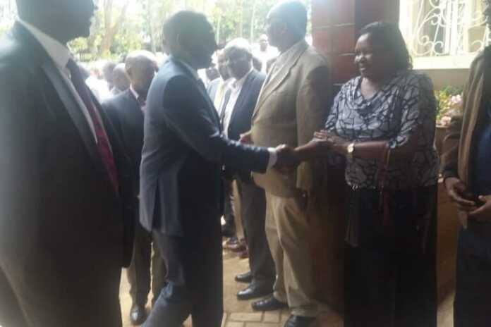 DP Ruto visits the late Jonathan Moi's home in Baringo County
