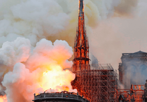 French president Macron vows to reconstruct Notre-Dame Cathedral