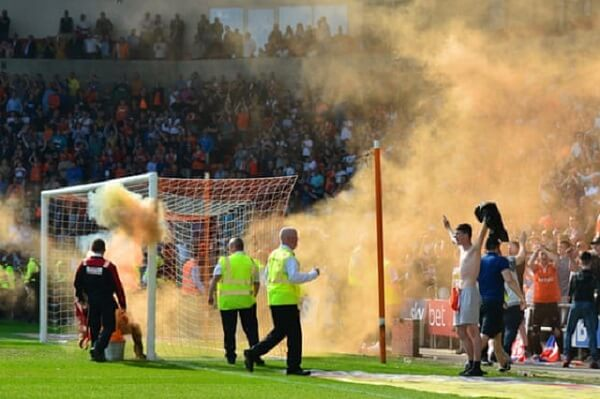 Police horse dies due to a tragic accident during Blackpool match