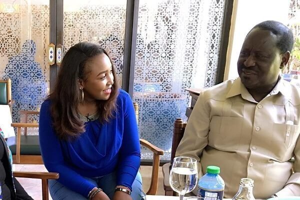 Betty Kyalo meets ODM leader Raila Odinga