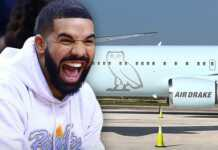 Drake's newly acquired jet was a freebie