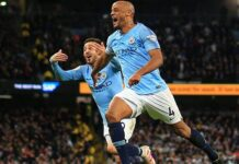 Manchester City captain Kompany undergoes a doping test