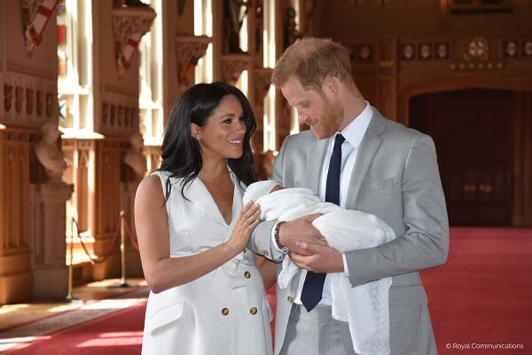 Meghan Markle and Prince Harry introduce son to the Queen