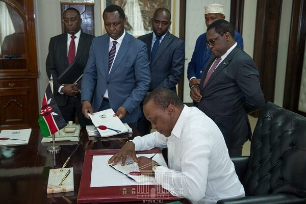 President Kenyatta signs into law the Health Laws 2018 bill