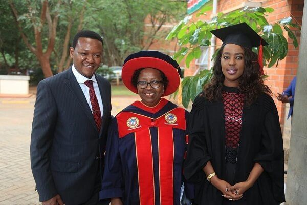 Governor Mutua's wife graduates with Masters in Science