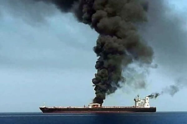 Two ships explode at the Gulf of Oman