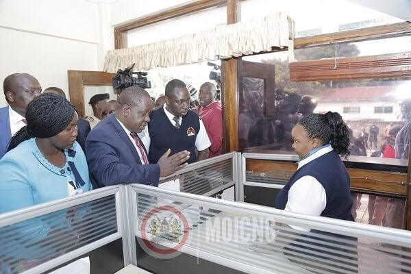 CS Dr. Fred Matiang'i opens a passport issuance centre in Nakuru