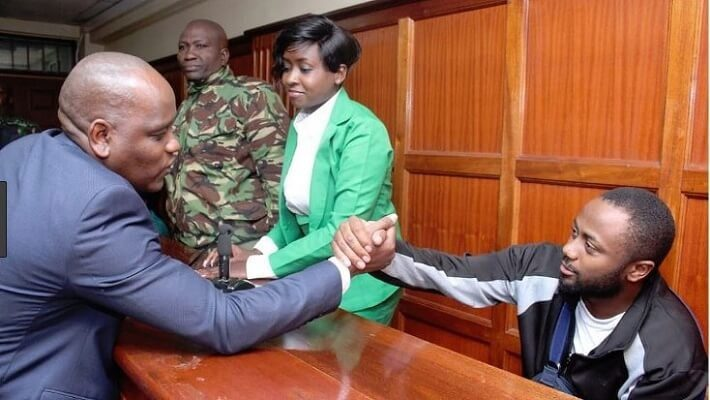 Jacque Maribe visits Dennis Itumbi following his arrest
