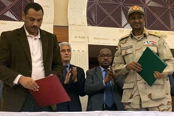 Sudan civilian and military sign a power-sharing deal