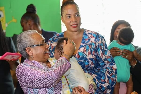 First Lady Margaret Kenyatta in Jamaica