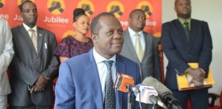 Jubilee party to field a candidate to vie for Kibra seat