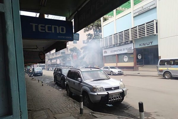 Police disperce KNUT officials in Nairobi