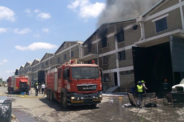 Fire razes down goods of unknown value in Sabaki area