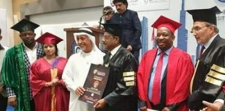 Governor Sonko awarded an honorary doctorate degree