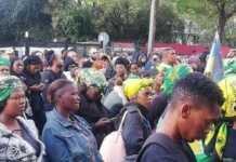 Protest in South Africa over an increase in gender-based violence