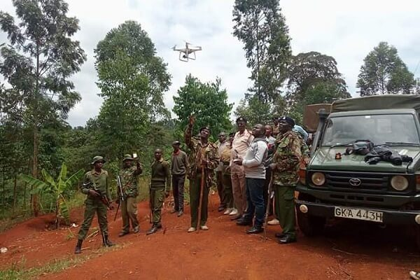 Police in Murang'a deploy drones to arrest chang'aa traders