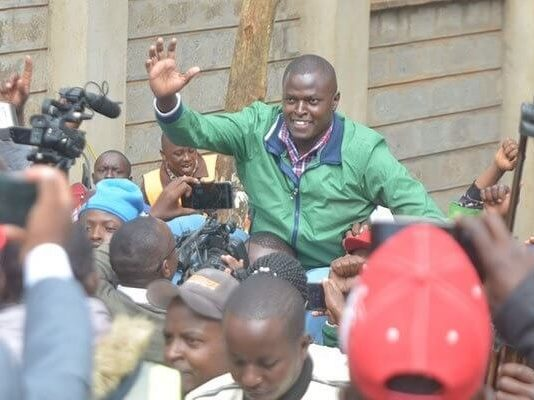 Ndindi Nyoro receives a heroic welcome in Murang'a