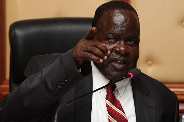Governor Cyprian Awiti of Homabay has regained his eyesight