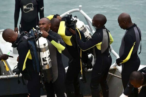 Death at the seas,vehicle and bodies retrieved