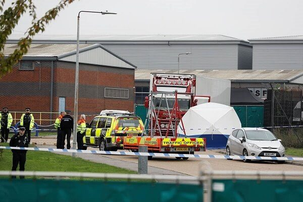 39 dead bodies were discovered by Essex police in a truck container