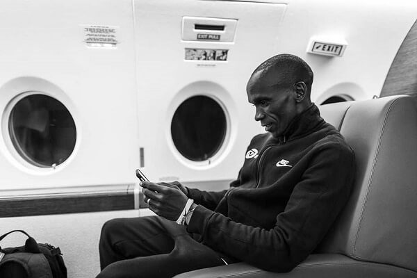 Kipchoge Eliud ieaves for Vienna to challenge own record