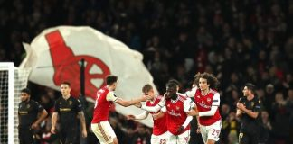Nicolas Pepe on target as Arsenal come from behind to win