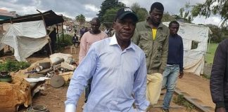 Former Senator Boni Khalwale was on Thursday chased away by angry youths