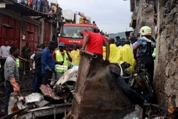 DR Congo plane crashes into homes killing 27 people