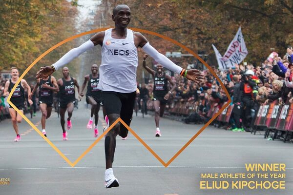 Kipchoge bags male athlete of the year for the second time