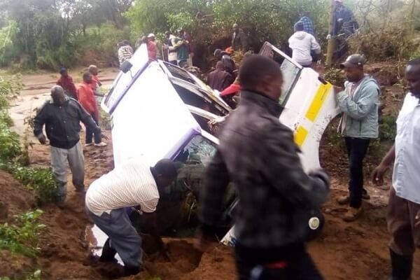 Kajiado floods sweep away a family of five