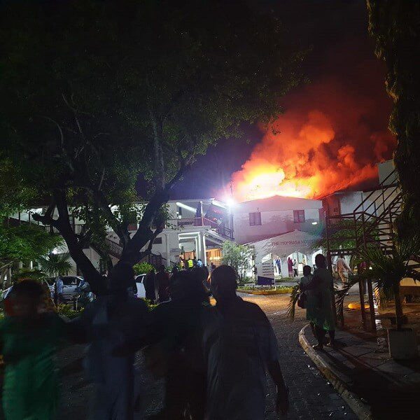 The Mombasa Hospital inferno contained by county firefighters
