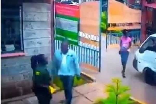 Man caught beating female guard on police radar