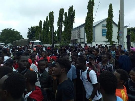 Technical University of Mombasa students hold demonstration over insecurity