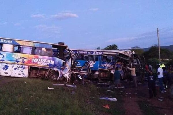 Seven dead,62 injured as two Modern Coast buses colllide