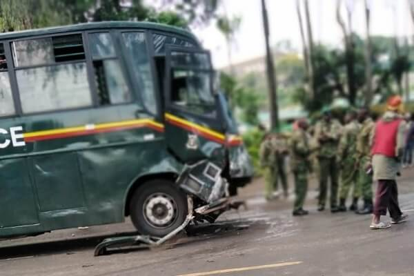 Kenya Prison bus involved in an accident killing one