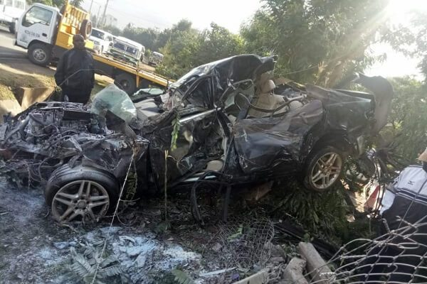 One feared dead as Mercedes Benz veered off the road