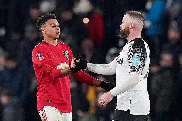 Manchester United's Jesse Lingard abused at Derby