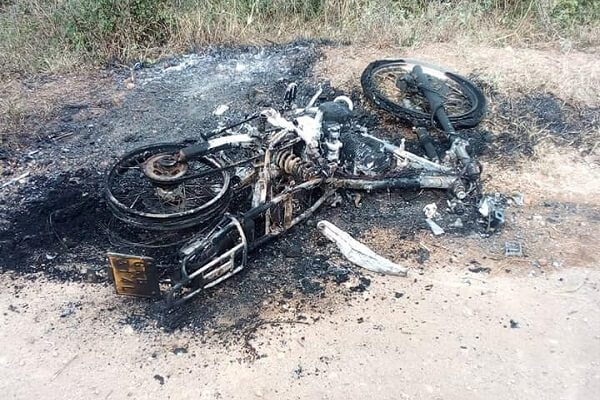 Gatanga police hunt two suspects behing torching of cheif's motorbike