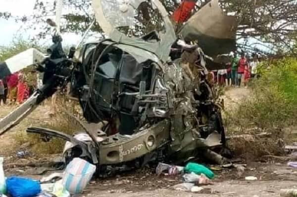 Kenya Army helicopter with two pilots crashes in Machakos