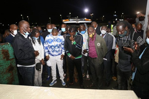 Kevin Oliech's arrives in kenya from German ahead of burial