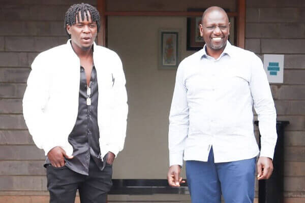 DP William Ruto meets singer Willy Paul