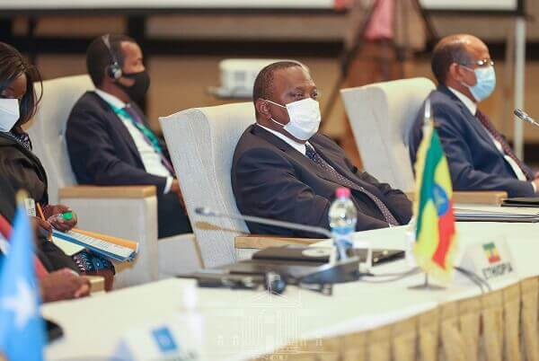 President Uhuru attends the 38th IGAD Extra Ordinary summit