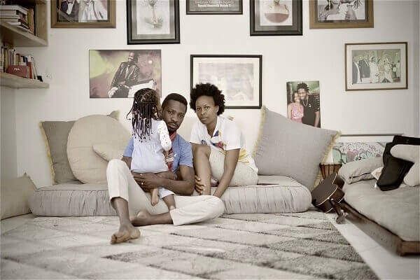 Bobi Wine and wife stuck at home with 18-month-old baby