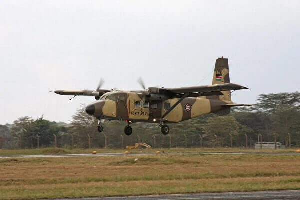 Four people die after a Kenya Airforce aircraft crashed in Voi