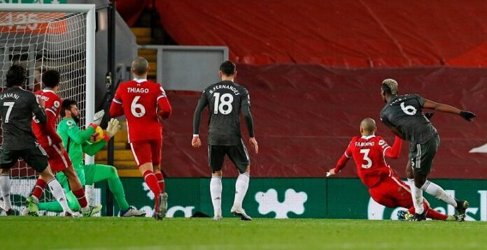 Manchester United and Liverpool share a point at Anfield