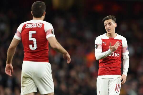 Arsenal keen to offload MEsut Ozil and Sokratis