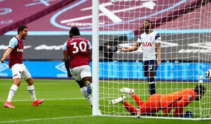 West Ham beat Tottenham to climb to fourth position