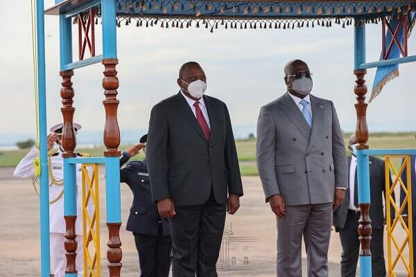 President Uhuru arrives in DRC for a three-day visit