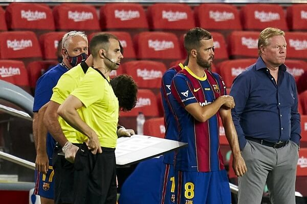 Barcelona: Pjanic and Koeman embroiled in war of words