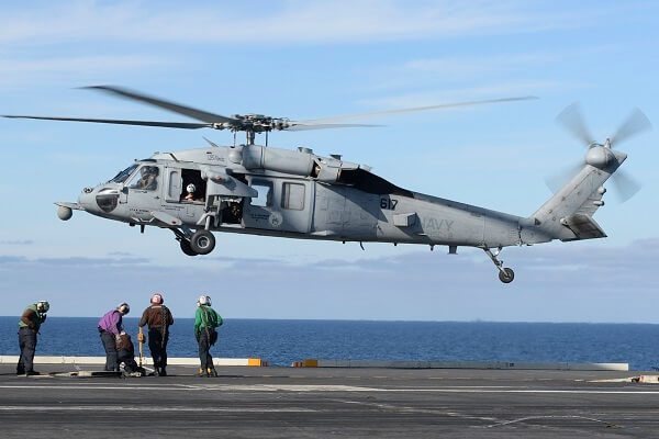 Five missing following a US Navy helicopter crash